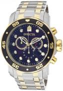 Invicta Men's 0077 Pro Diver Chronograph Black Dial Watch