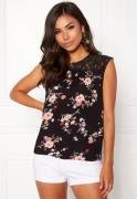 ONLY Karmen S/L Top AOP Black Flower Print 34