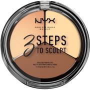 NYX PROFESSIONAL Makeup 3 Steps To Sculpt Light