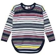GAP Multi-Stripe Hi-Lo Sweater Blue Galaxy L (9-10 år)