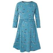 Frugi Blue Geese Jersey Smock Dress S
