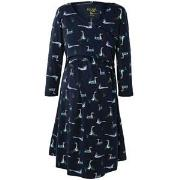 Frugi Navy Geese Twist Front Dress S