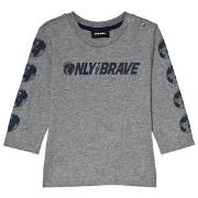 Diesel Grey Only the Brave Branded Long Sleeve Tee 12 months
