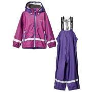 Tenson Rain Set Plasma Stripe Purple 86/92 cm