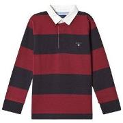 GANT Original Barstripe Rugby Tee Mahogny Red 110-116cm (5-6 years)
