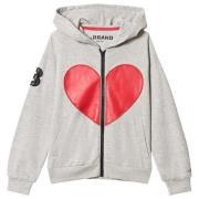 The BRAND Heart Hettegenser Grey Melange 116/122 cm