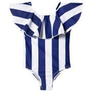 The BRAND Flounce Swimsuit Blue Stripe 92/98 cm