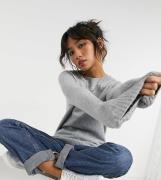 Vero Moda Petite crew neck jumper in grey