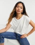 Vero Moda Aware t-shirt with scoop neck in white